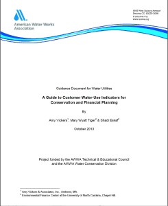 AWWA Water Analytics Guidance cvr-Vickers et al